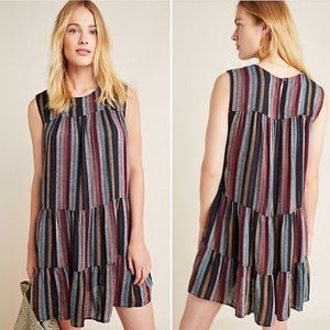 Anthropologie Leighton Tiered Tunic Dress Small